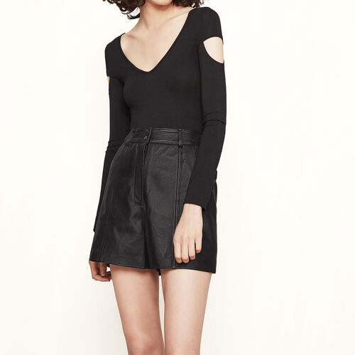 Body avec détails de coupe : T-shirts couleur Black
