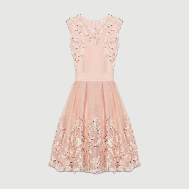 Robe sans manches en maille : Robes couleur Rose