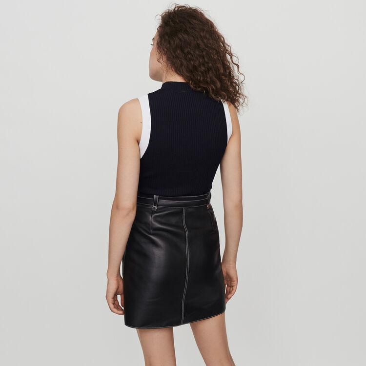 Pull fin sans manches à côtes : Pulls & Cardigans couleur Noir