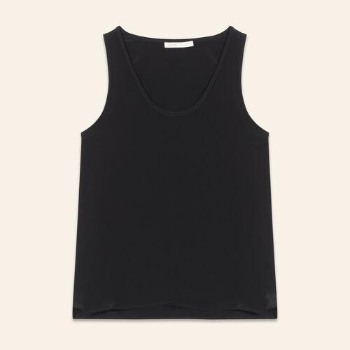 Débardeur en soie : Tops couleur BLACK