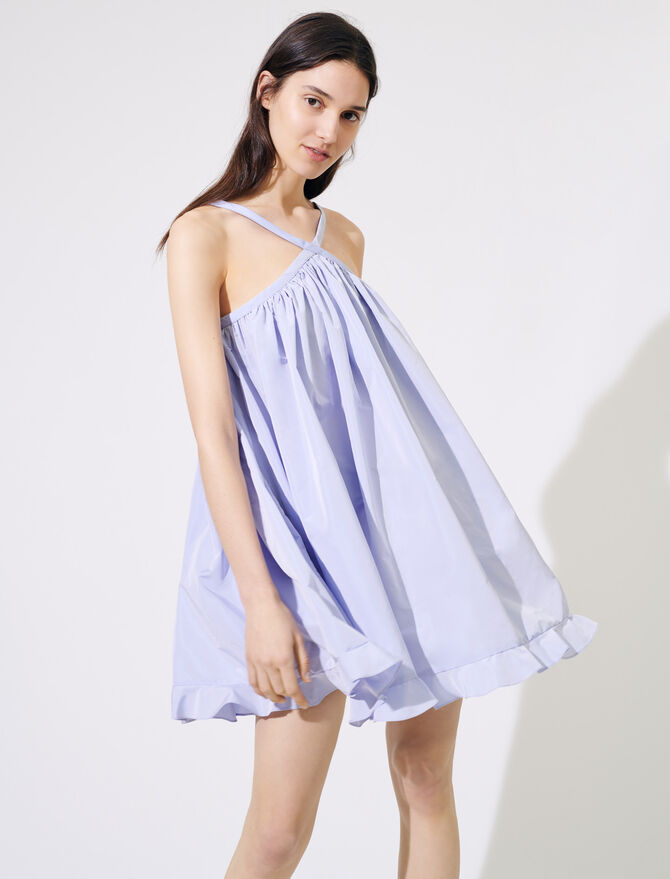 Taffeta baby-doll dress -  - MAJE