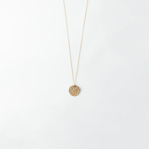 Aries zodiac sign necklace : All accessories color Old Brass