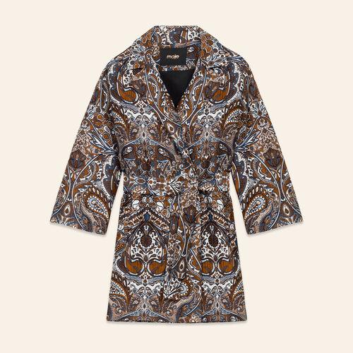 Veste longue en jacquard : Blousons & Vestes couleur JACQUARD