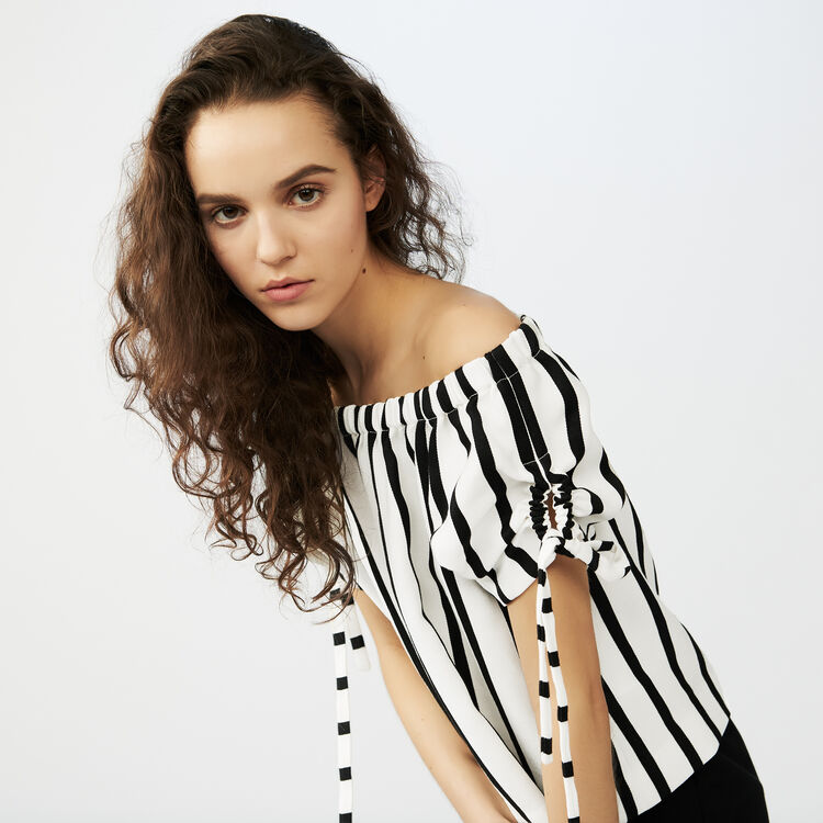 Striped crop top - See all - MAJE