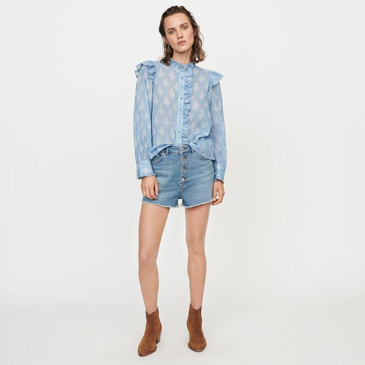 Denim short : Skirts & Shorts color Blue