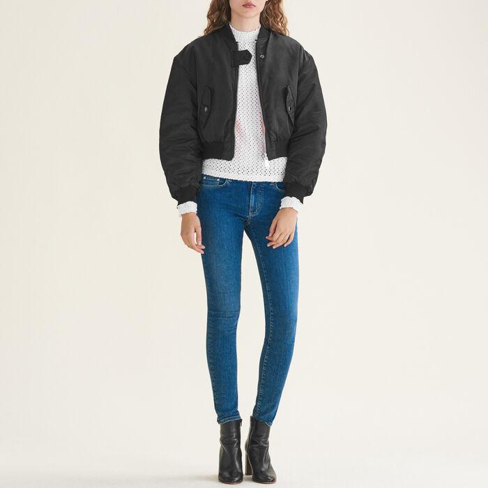 Jean skinny en coton stretch : Pantalons & Jeans couleur Bleu