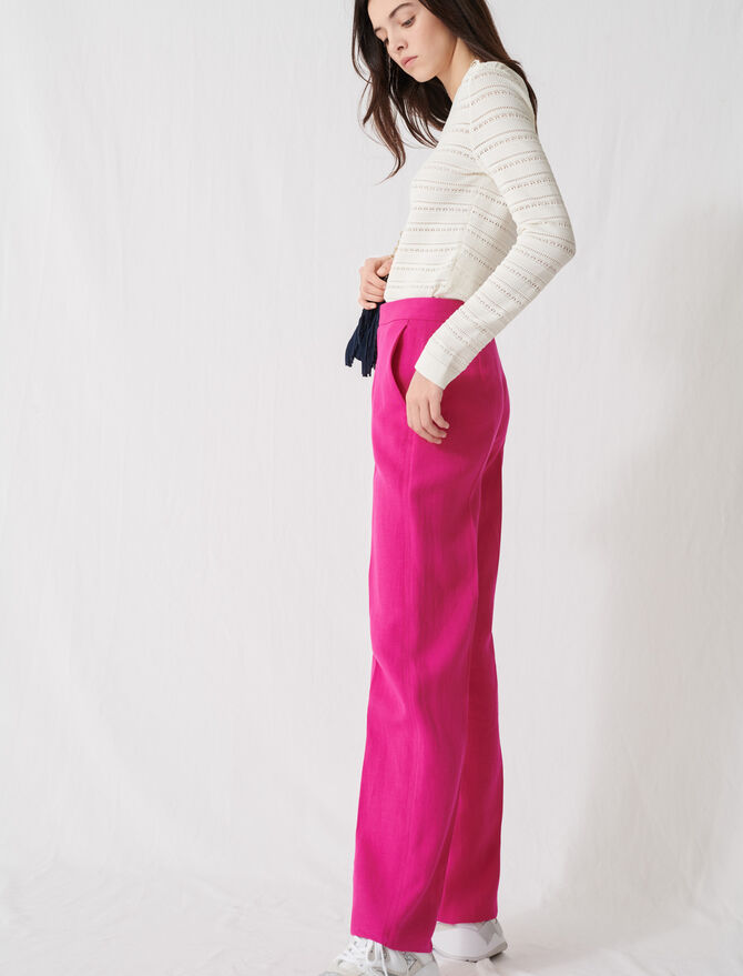 Fuchsia tailored trousers -  - MAJE