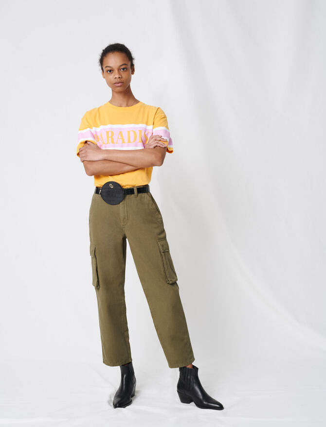 Cargo-style denim trousers - All the collection - MAJE