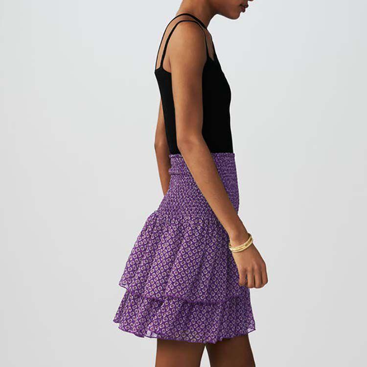 Jupe imprimée à volants : Jupes & Shorts couleur IMPRIME