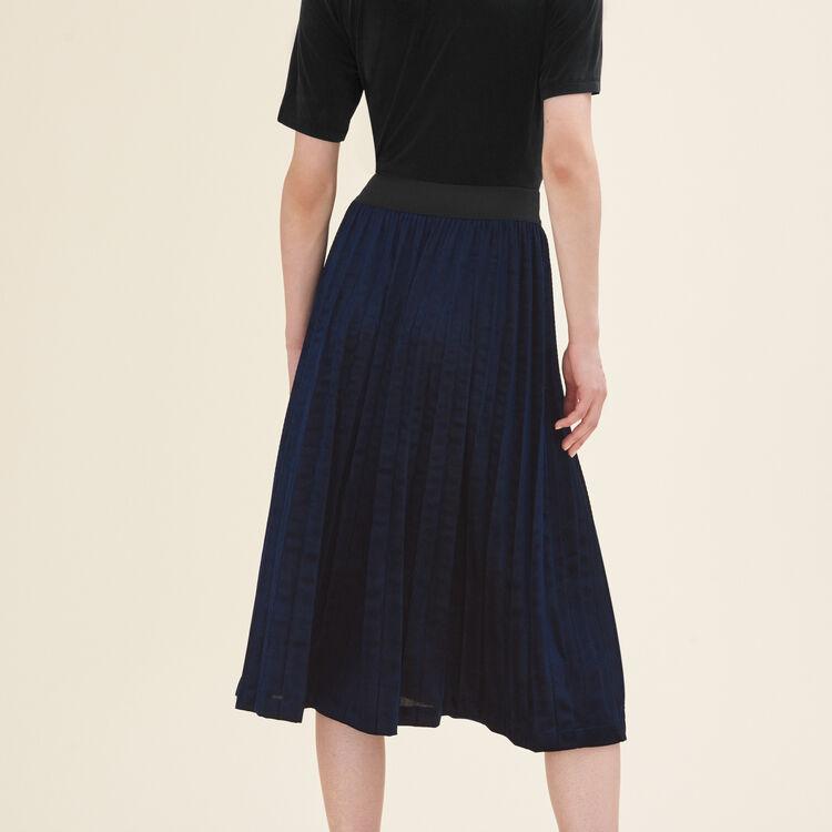 Jupe plissée longueur midi : Jupes & Shorts couleur Nuit