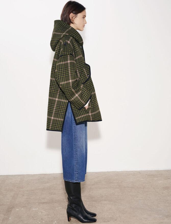 Checked oversize coat - Coats & Jackets - MAJE