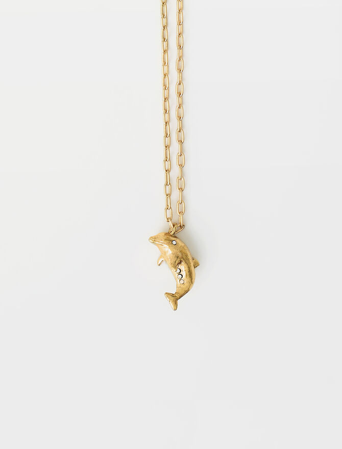Dolphin animal necklace -  - MAJE