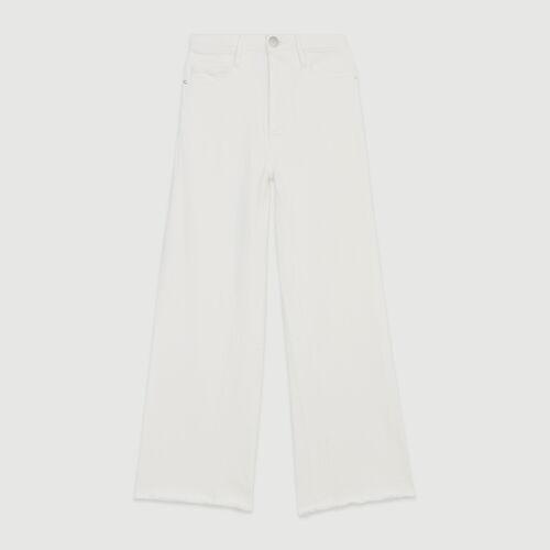 Jean taille haute : Jeans couleur BLANC