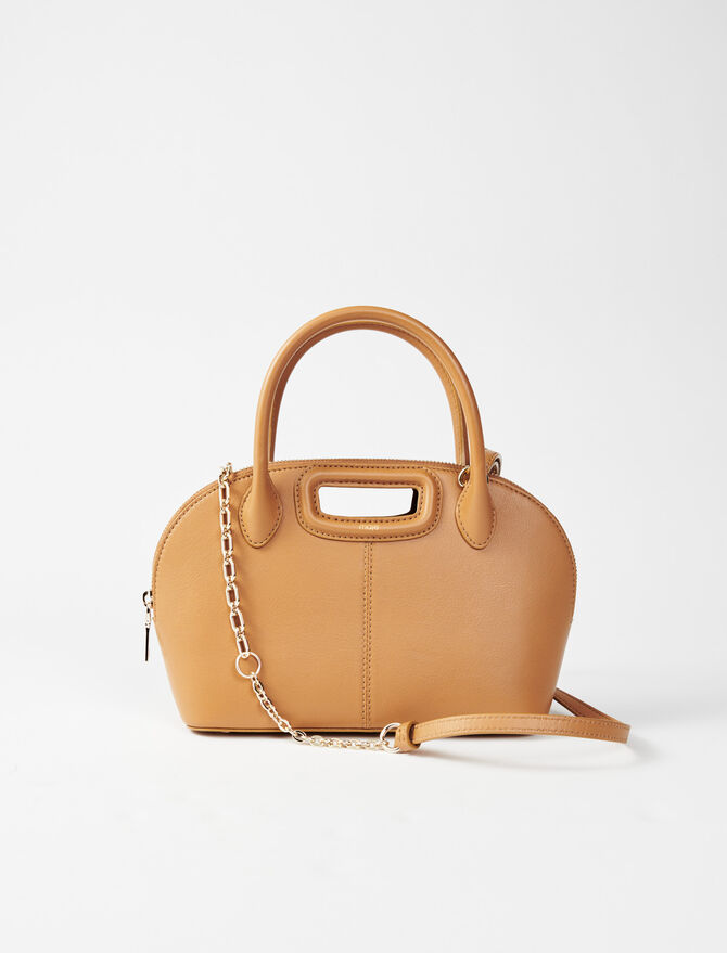 Smooth leather handbag -  - MAJE