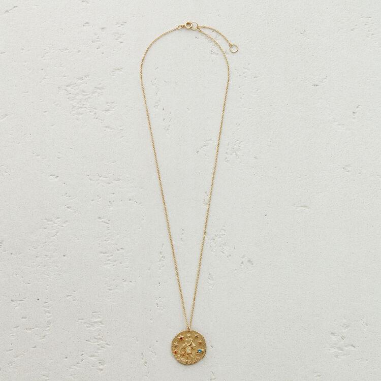 Collier Verseau signe du zodiaque : Médailles couleur OR