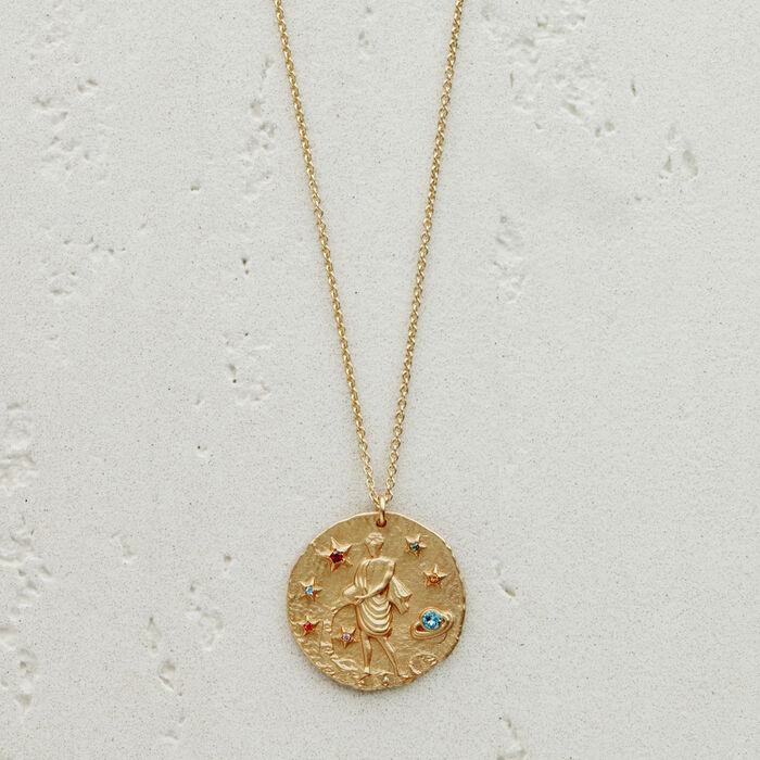 Collier Verseau signe du zodiaque : Bijoux couleur OR