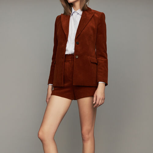 Corduroy suit jacket : Blazers color Caramel