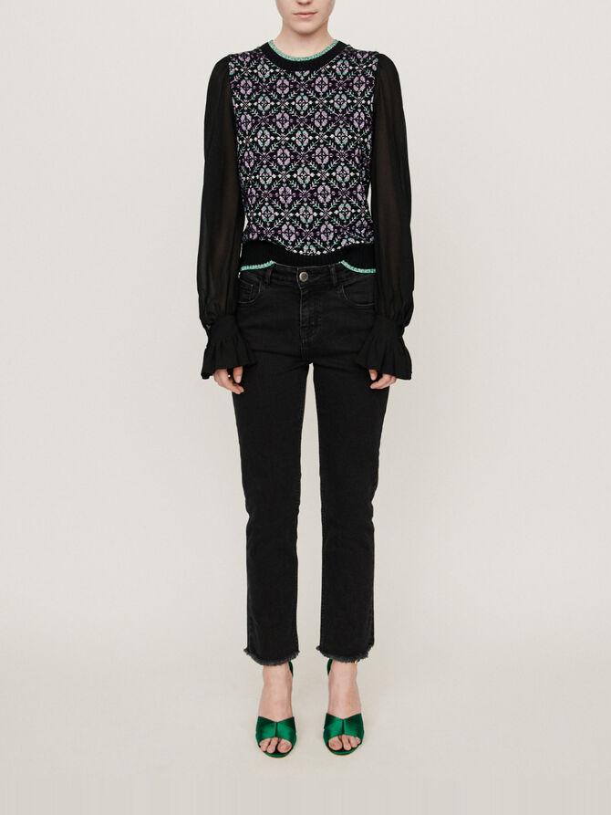 Basic straight-leg jeans - pantalons - MAJE