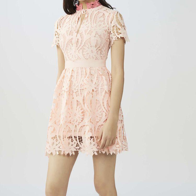 Robe courte en tissu technique : Robes couleur Rose
