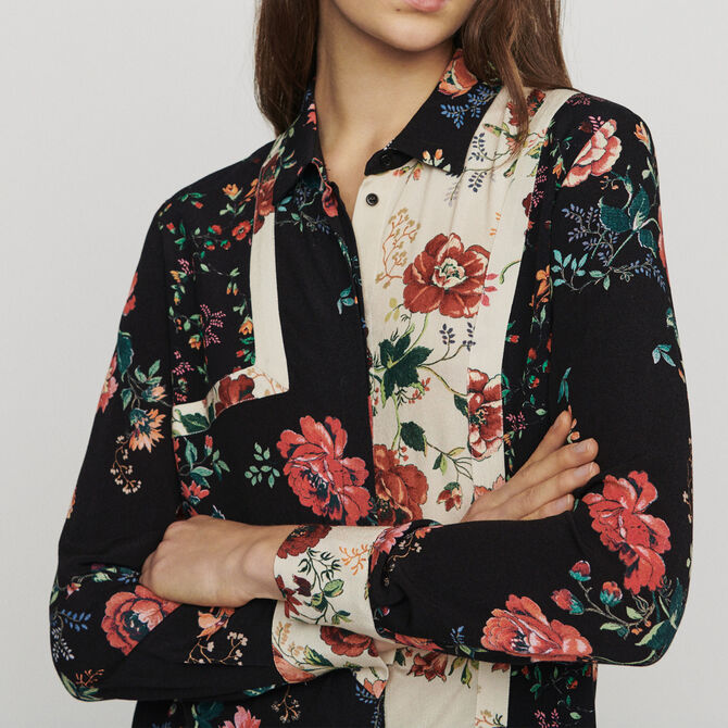 Patchwork print shirt - See all - MAJE