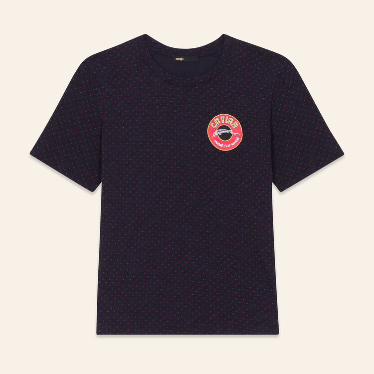 Tee-shirt brodé : T-shirts couleur Marine