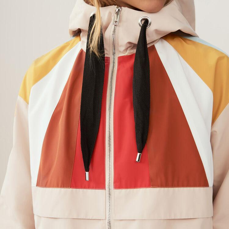 Anorak court multicolore : Blousons couleur Beige