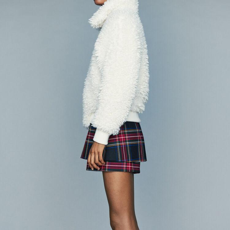 Blouson court en fausse fourrure : Nouvelle Collection couleur Blanc