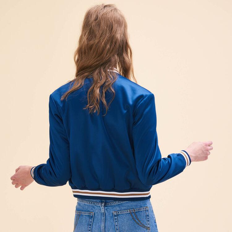 Bomber avec broderies : Blousons & Vestes couleur Bleu