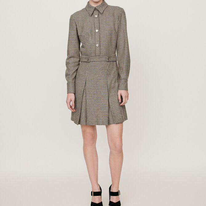 Plaid jacket-style coat - staff private sale 20 - MAJE