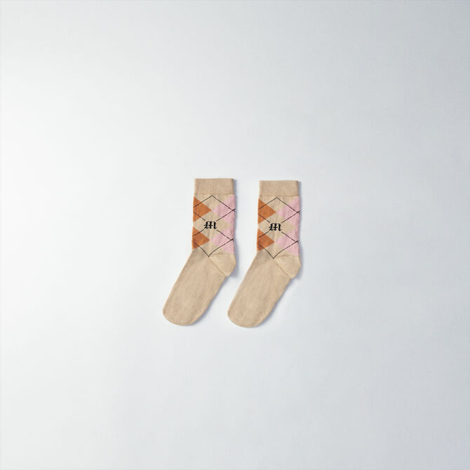 Plaid cotton socks - staff private sale 20 - MAJE