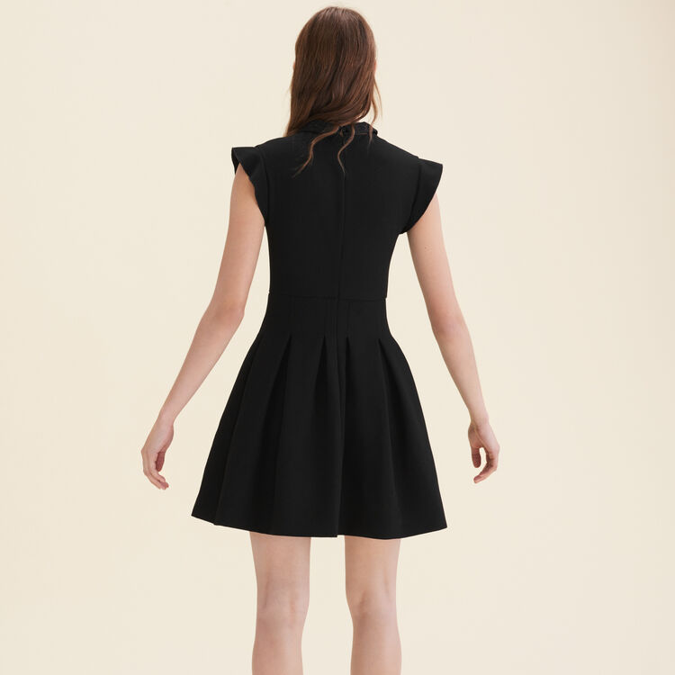 Robe plissée en crêpe : Robes couleur Black