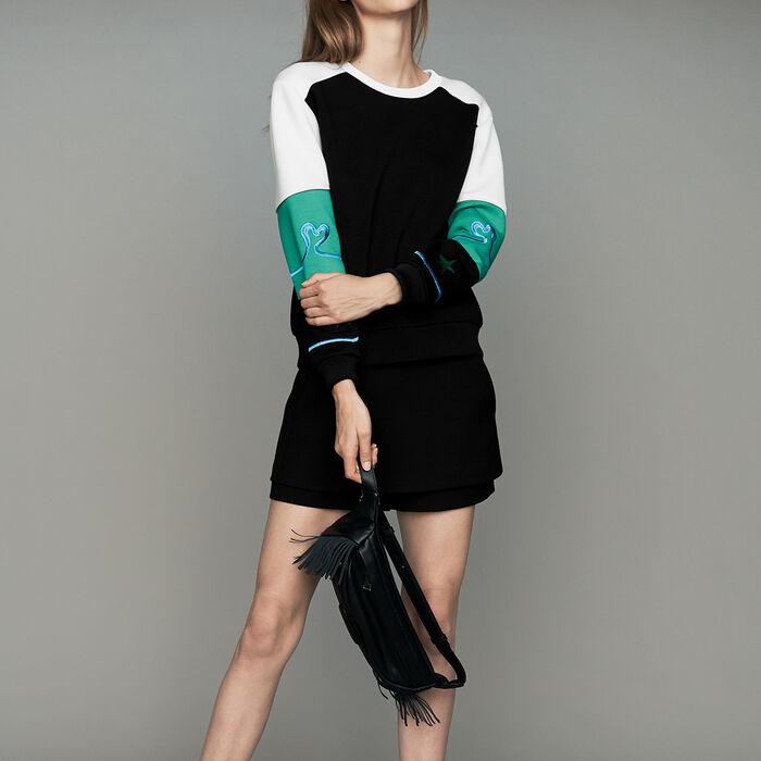 Sweat-shirt multicolore esprit Néoprène : Nouvelle Collection couleur MULTICO
