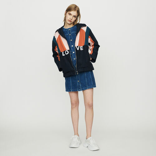 Multicolored windproof jacket : Jackets color Navy