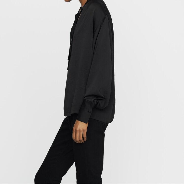 Blouse en crêpe : Nouvelle Collection couleur Black