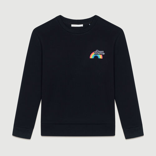 Sweat-shirt molletonné avec impression : Sweats couleur Black