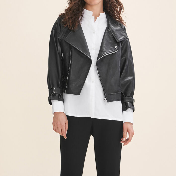 Fitted leather jacket - Jackets - MAJE