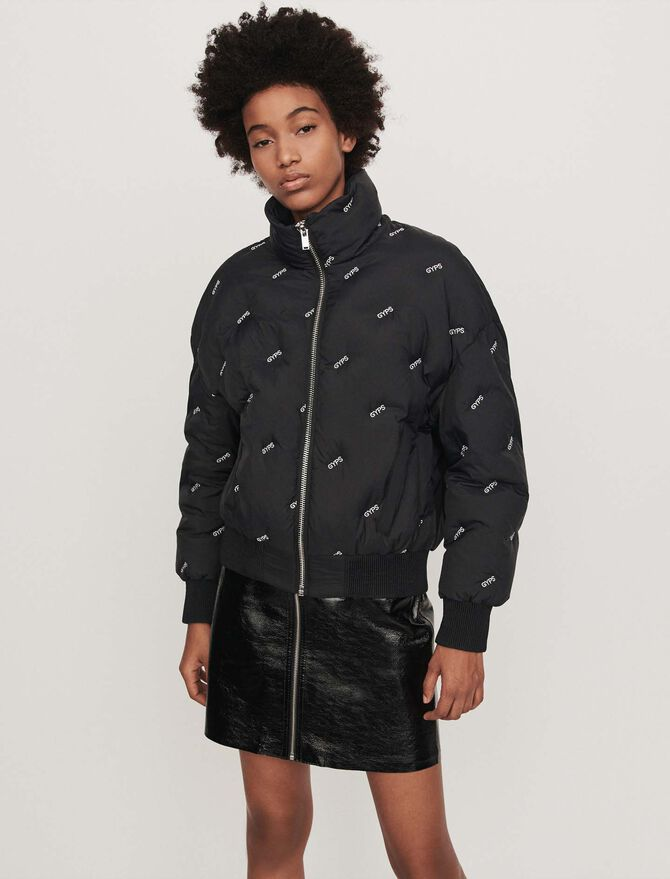 Embroidered cropped puffer - See all - MAJE
