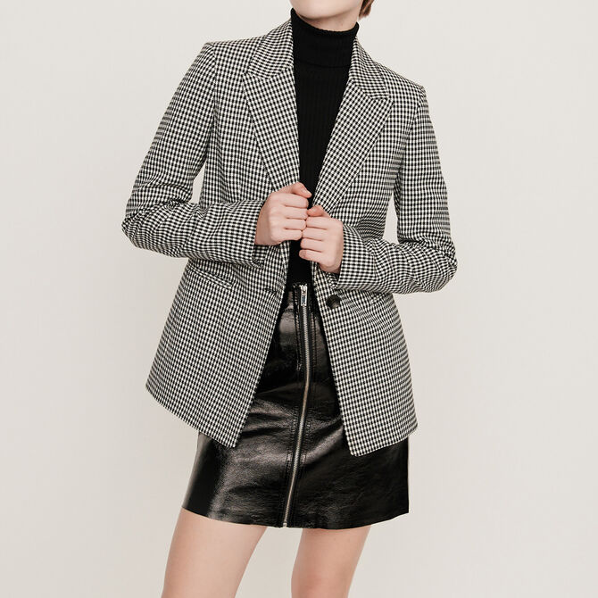Belted houndstooth jacket - See all - MAJE