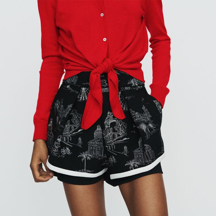 Cardigan noué : Maille couleur Rouge