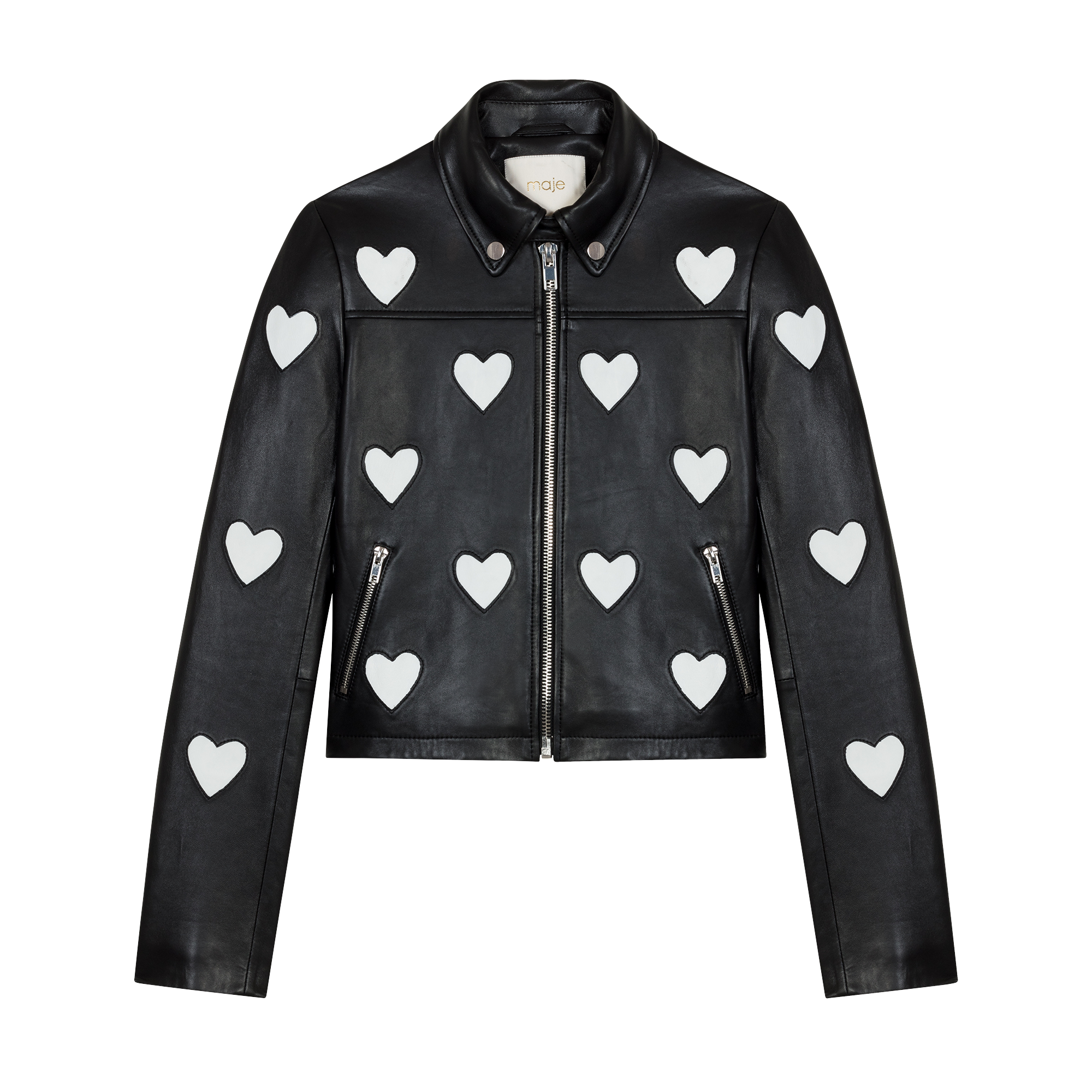 Leather jacket love - Jackets - MAJE