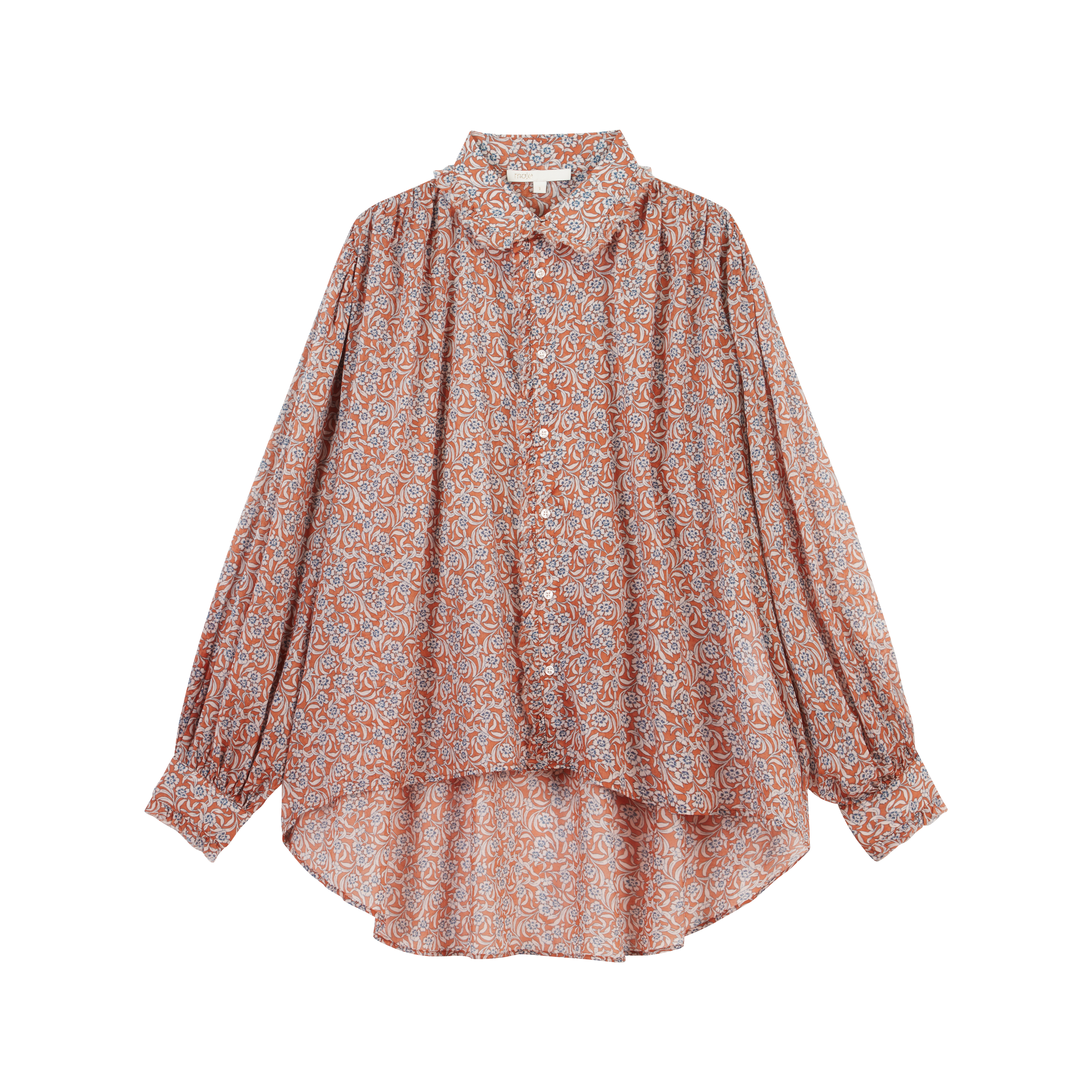 Printed- cotton voile shirt - Tops & Shirts - MAJE