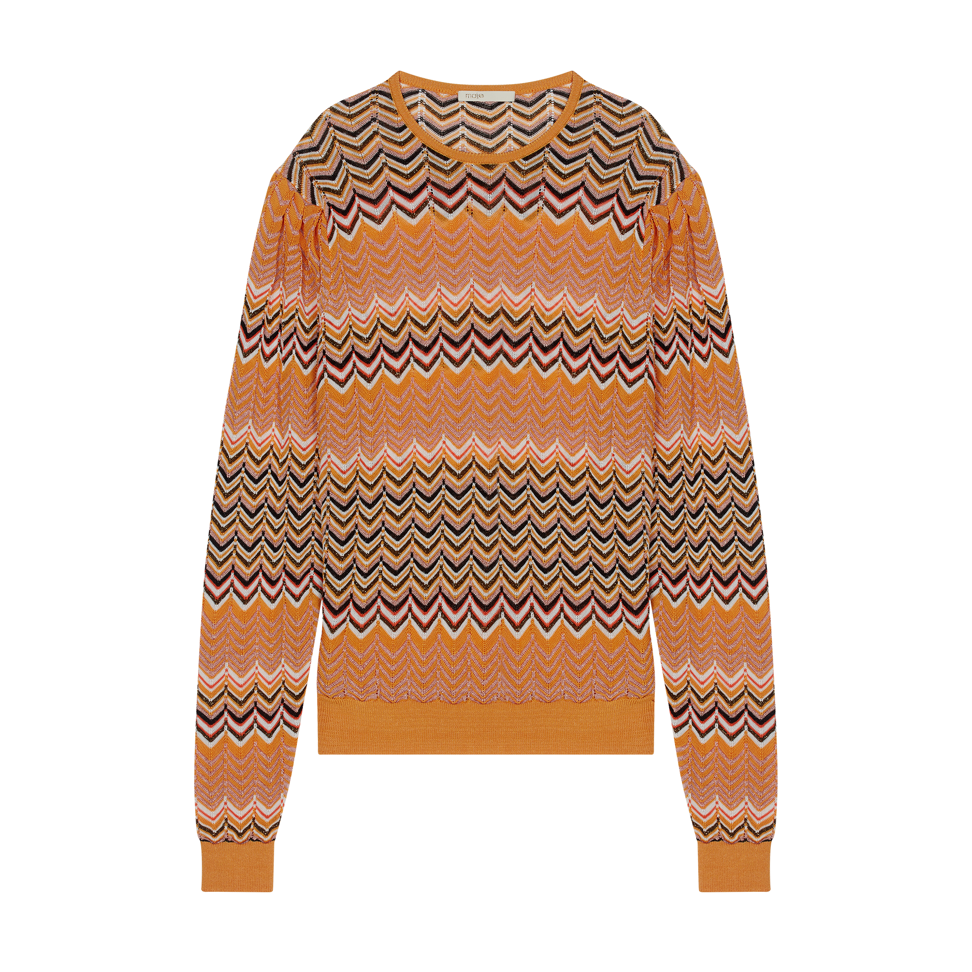 Sweater in zigzag knit - Pullovers & Cardigans - MAJE