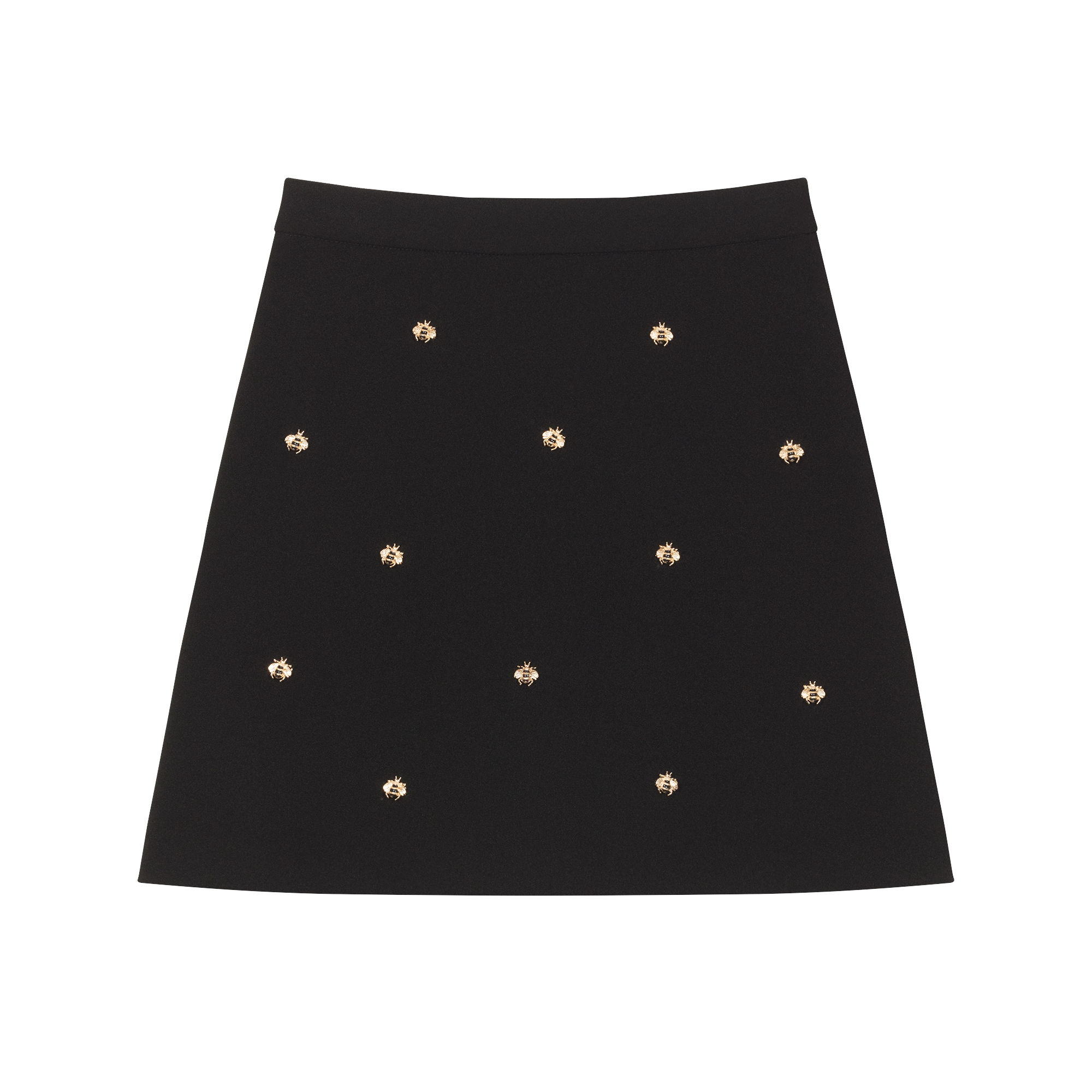 Skirt with embroidered bees - Skirts & Shorts - MAJE