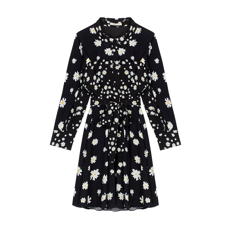 Dress with mixed daisy print - Dresses - MAJE